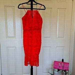 Forever New Size 8 Orange Knitted Boho Maxi Dress